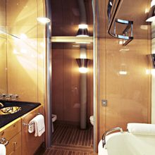 Lady A Yacht Private Bathroom