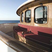 Arriva Yacht Forward of Wheelhouse