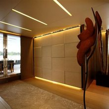 Bliss Easy Yacht Hallway - View to Aft Deck