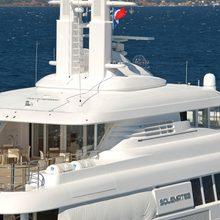 Bella Vita Yacht Aerial - Close