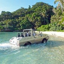 Exuma Yacht Amphibious Jeep Landing