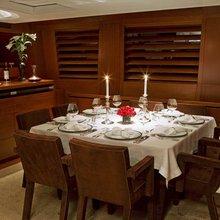 Ethereal Yacht Upper Salon Dining - Night