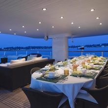 Voyager Yacht Exterior Dining