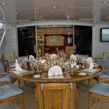 Reef Chief Yacht Exterior Dining Looking In