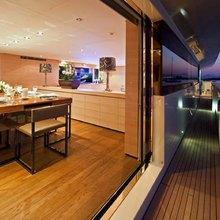 Fan Too Yacht Extendable Main Deck Terrace - Outside