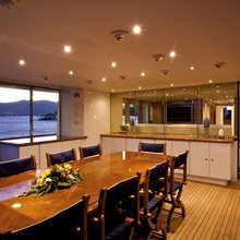 Achilles Yacht Dining Area