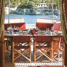 Arriva Yacht Aft Deck Dining - Day