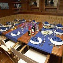 Kairos II Yacht Interior Dining