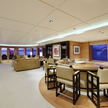 Bella Vita Yacht Interior Bar