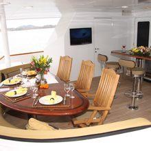 Empire Sea Yacht Exterior Dining