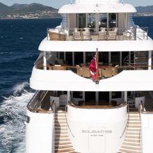 Bella Vita Yacht Stern Underway