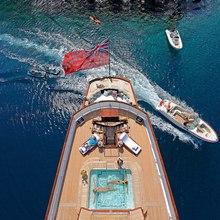 Talitha Yacht Aerial View - Pool