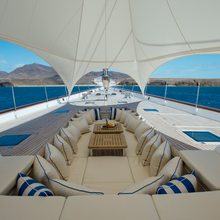 Ethereal Yacht Deck Lounging under Bedouin Tent