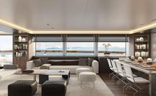 main salon of drifter world luxury charter yacht