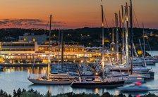 Yacht Club Costa Smeralda in Sardinia at nightfall