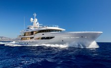 Superyacht GALENE  on the water