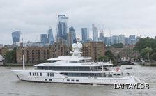 Sixth Sense yacht arriving in London