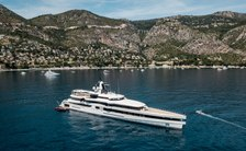 Lady S superyacht in the Mediterranean