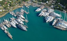 yachts during antigua charter show