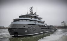 RAGNAR superyacht being launched
