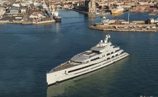 Brand new 107m superyacht LANA begins sea trials