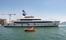 superyacht lammouche during launch