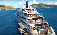 Superyacht Here Comes the Sun in BVI's in the Caribbean