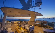 Sundeck of superyacht Far Niente