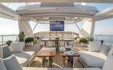 Luxury charter  yacht Soy Amor sundeck