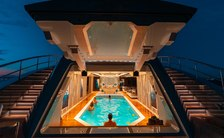 pool on superyacht tatiana