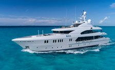 Superyacht BACA on the water