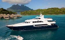 Freshly refitted 43m motor yacht PLAYPEN available for Pacific Ocean charters