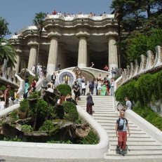 Steps leading up to Park Guell