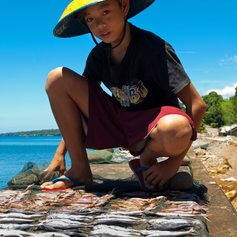 Young Philippinean fisherman