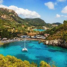 The Stunning Paleokastritsa Bay in Corfu