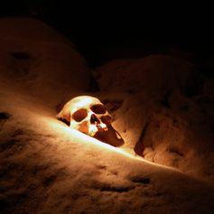 Human skull from ancient times