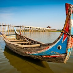 Boat by Ubein bridge