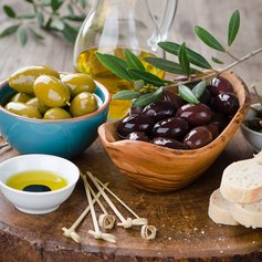 Locally Grown Greek Olives in Aigio