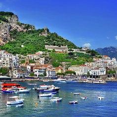Anchor by quite quaint coastal towns.