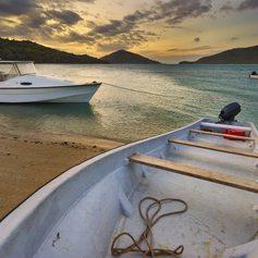 Boats on the coast