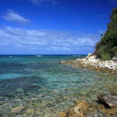 Transparent water at Antigua shore