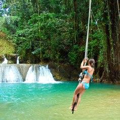 Rainforest waterfalls in St. Lucia