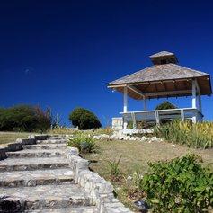 Gazebo with stone stairs