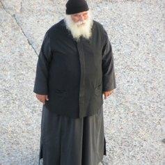 Priest in Amorgos Greece