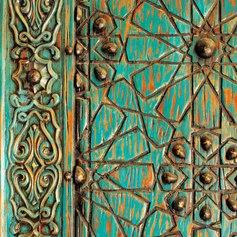 Intricate Ottomon Door in Istanbul Bazaar