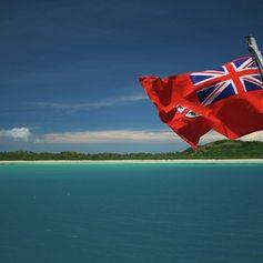 fiji flag waving in the wind