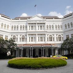 The Raffles Hotel in the middle of the high city