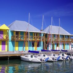 Visit the Brightly-Coloured Buildings of Heritage Quay
