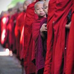 Peeking monk
