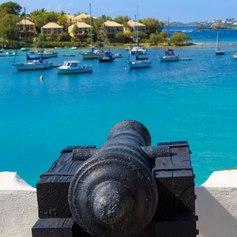 Boats Moored off the Coast of Antigua